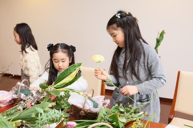 レ・フルール 宝塚 花育 フラワーアレンジメント 教室